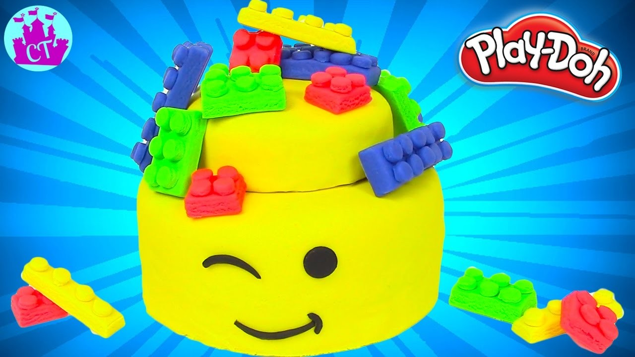 Play Doh Cake and Ice Cream Lego Movie Cake Rainbow Learning Diy Castle Toys