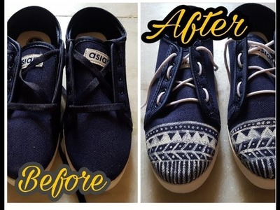 Revamp old shoes DIY. Hand paint. designer. step by step tutroial