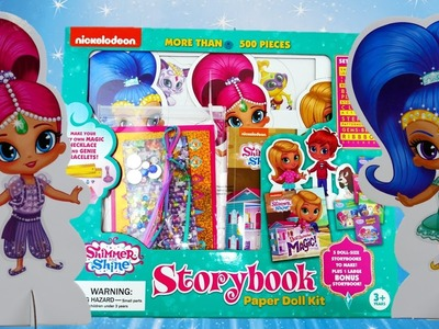 Shimmer and Shine Storybook Paper Doll Kit Dressup | Evies Toy House