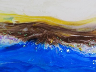 Time Lapse Abstract Resin Art DIY ~ Land Meets Water