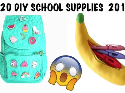 TOP 20 DIY School Supplies You Need To Try ! 2017 PART #2