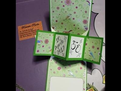 Twist pop up card 50 Anni compleanno - birthday -DIY -Scrapbooking