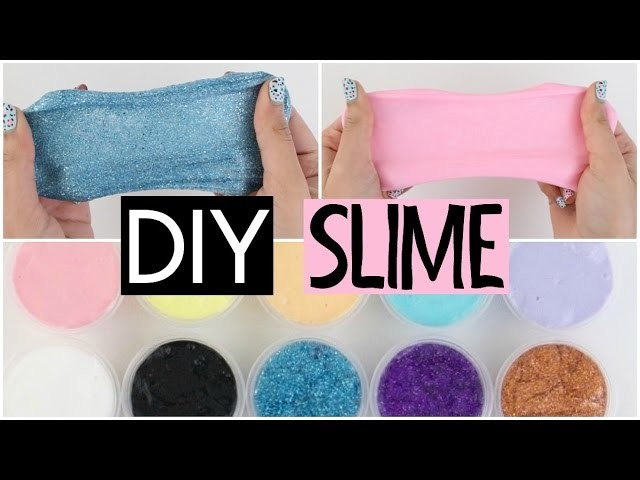 10 DIY SLIMES - Two Simple & Easy Recipes!