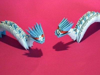 3D origami Small Dragon Tutorial for beginner