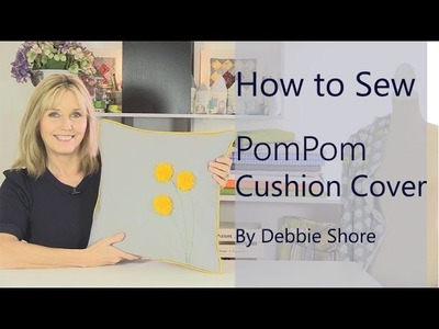 A simple sewing project, Pom Pom cushion cover!