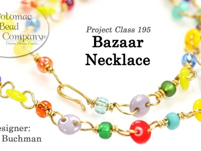 Bazaar Necklace (Chain Link Jewelry with 2-Hole Beads)