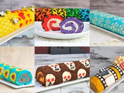 BEST DECORATED CAKE ROLLS, RAINBOW LEOPARD, SNOWFLAKE FROZEN, SUNFLOWER, HANIELA'S