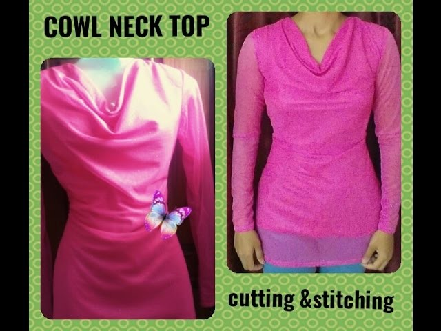 Cowl, How to sew a cowl neck. waterfall shirt