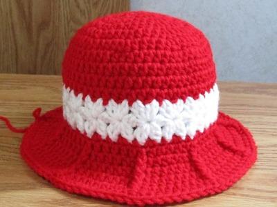 Crochet Baby Girl Hat Part 2 of 3