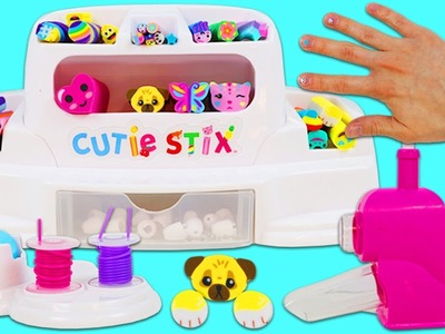 CUTIE STIX Cut & Create Station Playset! DIY Make Your Own Jewelry, Bracelets, and Nail Art!
