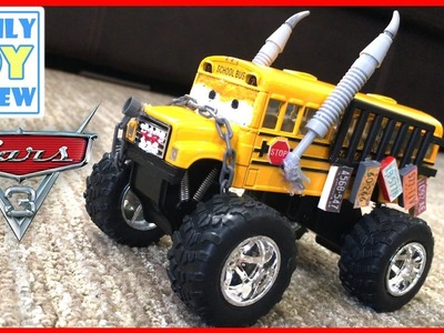 Disney Cars 3 Toys - DiY HOW TO MAKE Custom Miss Fritter Monster Truck School Bus Demolition Derby