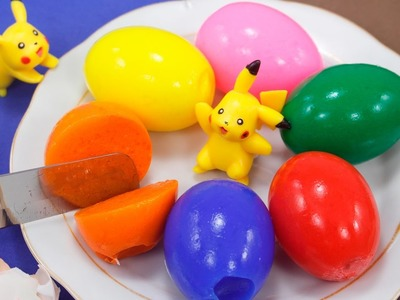 DIY COLOR YELLY EGGS - How to Make Yelly Color Eggs and Cut them