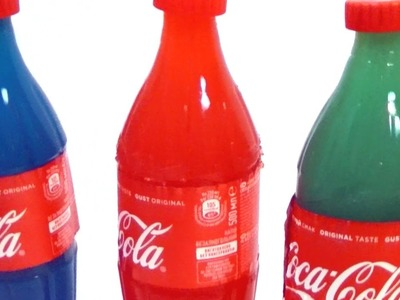 DIY COLORFUL JELLY Coca Cola to learn colors for children