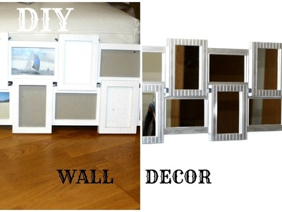 DIY Easy Mirrored Wall decor|Hanging wall decor ideas|Glam It yourself