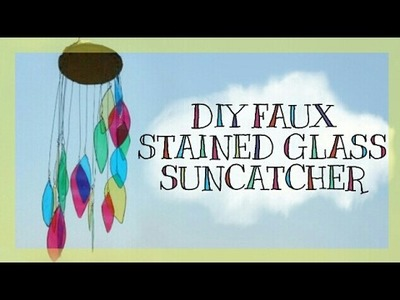 DIY Faux Stained Glass Suncatcher Mobile   Get Creative With Me !