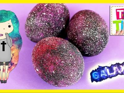 DIY Galaxy Eggs * HUEVOS decorados GALAXIA ✅  Top Tips and Tricks in 1 minute