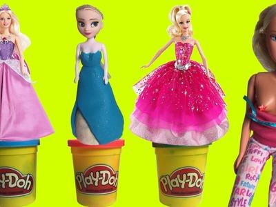 DIY How Make Play Doh Dolls Disney Princess Frozen Elsa and Anna 2017