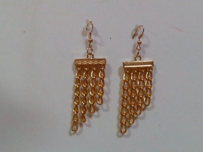 DIY Jewelry Making - How to Make a Simple Chain Earring + Tutorial !
