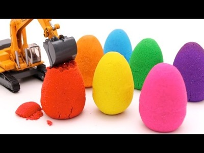 DIY Kinetic Sand Eggs Learn Colors Paw Patrol Kinder Surprise Toys