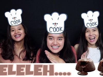 DIY LAVA CAKE NO BAKE W. OLA TOBING & DOOBEEGABY | Indira Kalistha