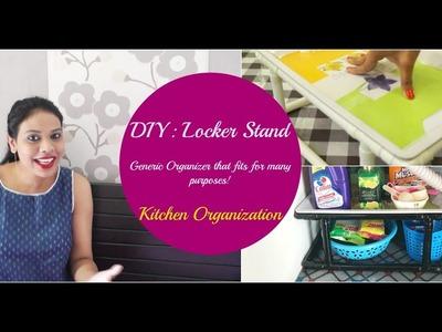 DIY Locker Stand   Kitchen Organization   Organizopedia