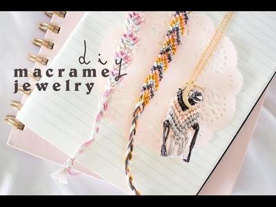 DIY Macrame Jewelry