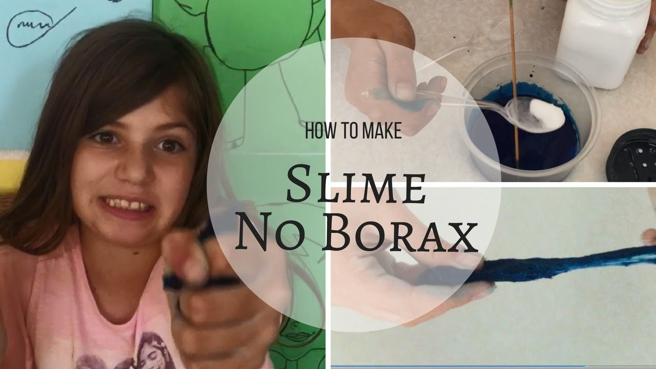 how to make slime with just borax and glue