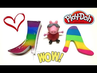 DIY Play-Doh Learn Make Rainbow High-Heeled Shoes Jelly Pudding Toy Soda