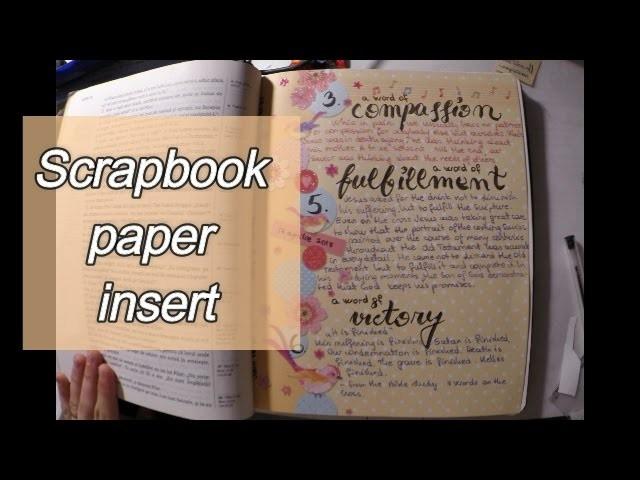 Easy Bible Journaling | Scrapbook paper insert | 7 words on the cross