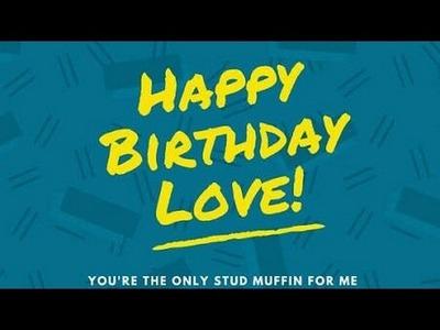 Easy handmade anniversary card for boyfriend