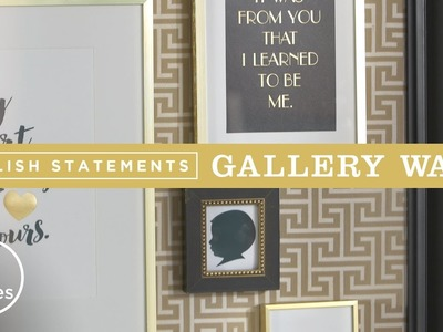 Gallery Wall Ideas with Stylish Statements   DIY with Will Brown