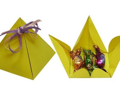 Gift: Paper bag template | Paper bag making | Handmade paper bags | Birthday greetings