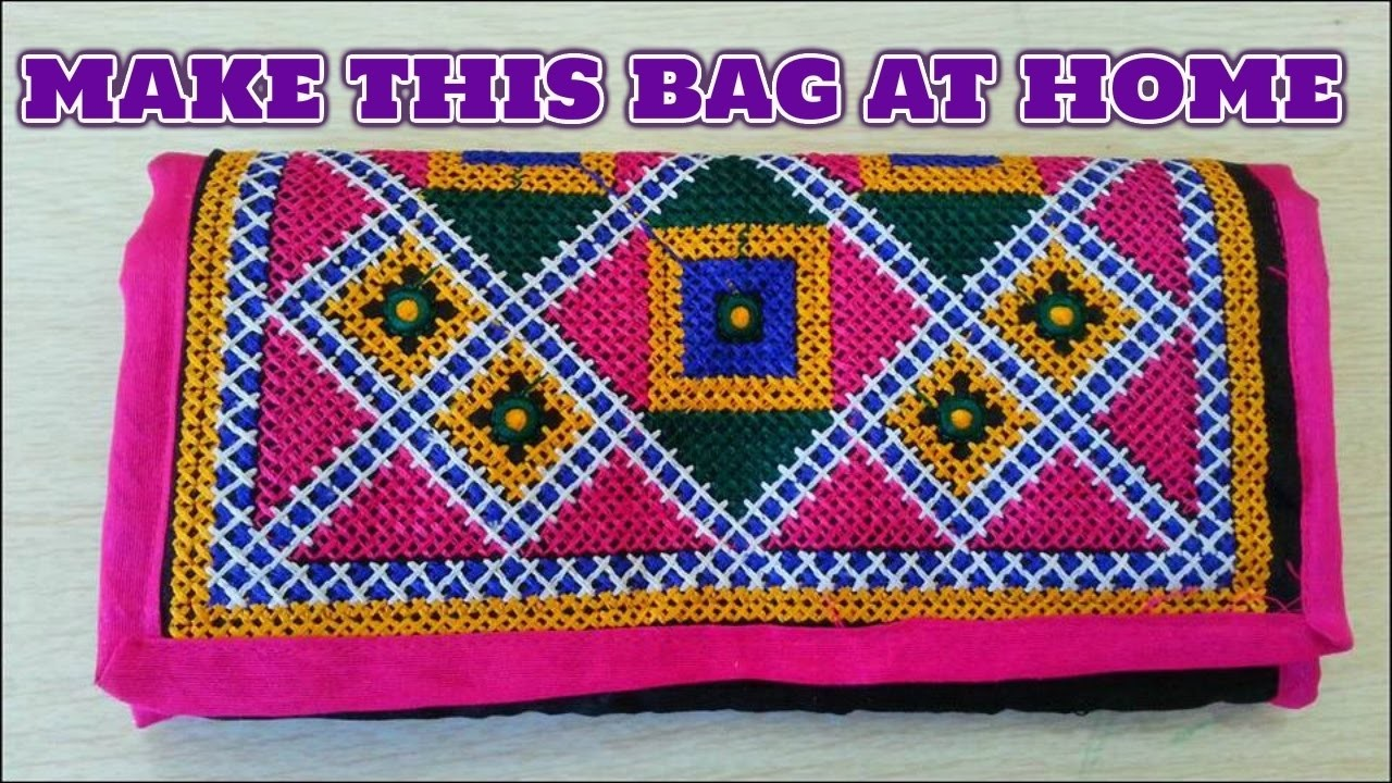 Handcrafted designer ladies bag.cutting and sewing full in hindi.