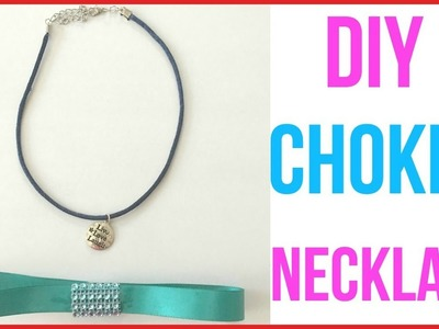 How To Make A Choker | DIY Choker Necklace With String | How To Make A Choker Necklace With Ribbon