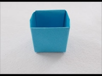 How to make easy origami box (Dustbin)