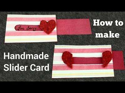 How to make Handmade Slider Card | Easy tutorial on slider card |