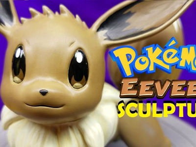 I SCULPT EEVEE THE POKEMON (polymer clay time lapse)