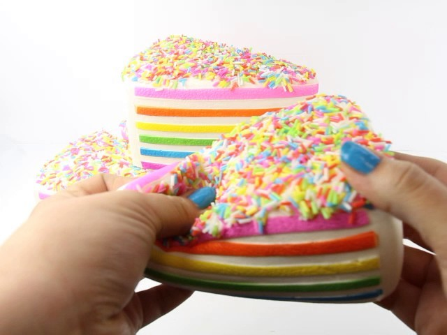Diy Squishy Cake : Jumbo Rainbow Cake Squishy On Sale!!!, My Crafts and DIY Projects