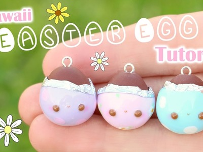 Kawaii Easter Egg Charm│Polymer Clay Tutorial