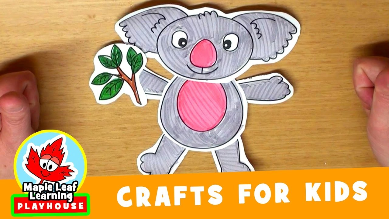Koala Craft for Kids | Maple Leaf Learning Playhouse