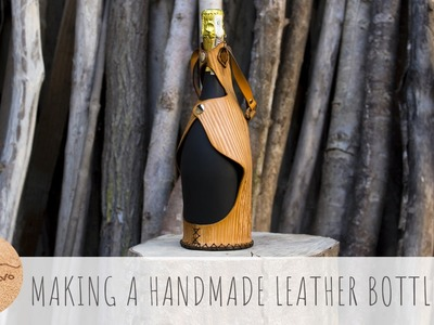 Making a handmade Leather Bottle Case - CuoioVivo