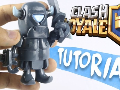 "MINI P.E.K.K.A | CLASH ROYALE ""TUTORIAL"" ✔POLYMER CLAY ✔COLD PORCELAIN"