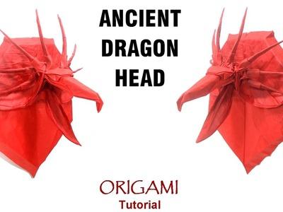 Origami Ancient Dragon head Tutorial (Satoshi Kamiya and 觅晨 Mi Chen) 折り紙 エンシェントドラゴン оригами дракон