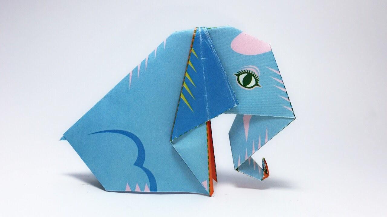 Origami elephant tutorial easy