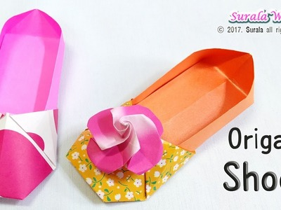 Origami - Shoes, loafers (Flower Shoes)