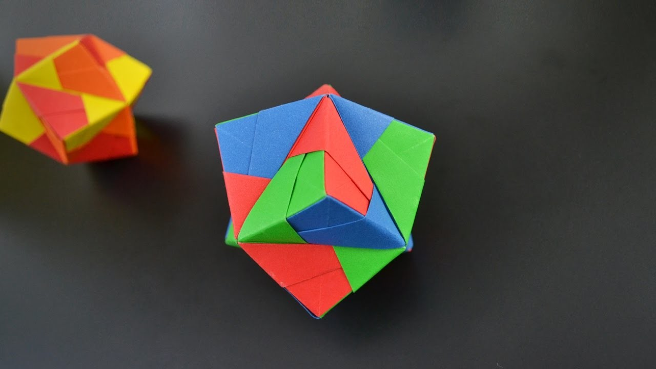 origami stellated octahedron sonobe 12 units