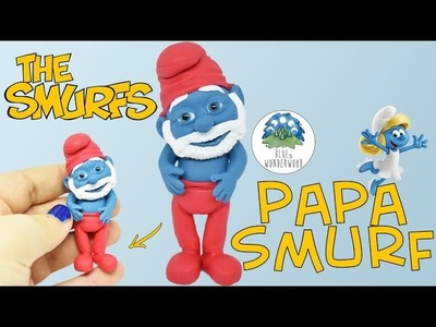 Papa Smurf from The Smurfs - Polymer Clay Tutorial - Blue in Wonderwood