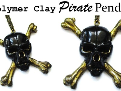 Pirates of the Caribbean Pendant, Polymer Clay Tutorial || Maive Ferrando