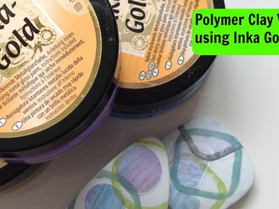 Polymer Clay veneer using Inka Gold