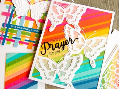Rainbow Cards with Scraps